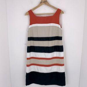 Market & Spruce Stripe Sleeveless Lined Dress